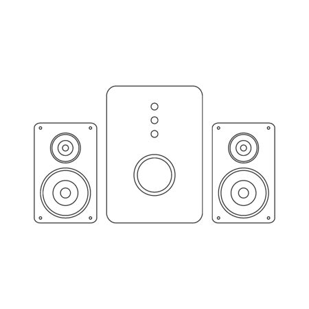 Stereo speaker system icon on white background. Vector illustration. Banque d'images - 135881158