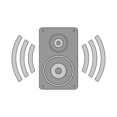 Speaker icon on black background. Vector illustration. Banque d'images - 135881221