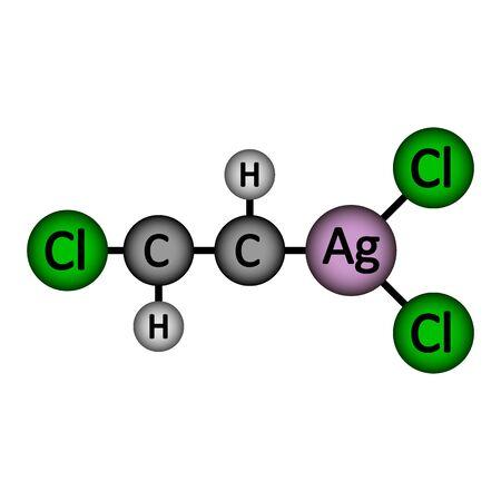 Lewisite molecule icon on white background. Vector illustration. Illustration