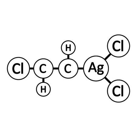 Lewisite molecule icon on white background. Vector illustration. Stock Illustratie