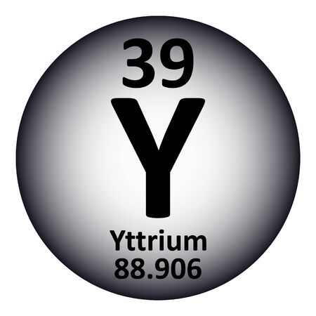 Periodic table element yttrium icon on white background. Vector illustration. Ilustração