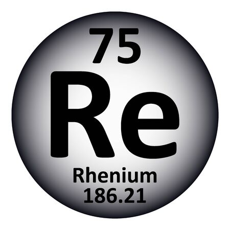 Periodic table element rhenium icon on white background. Vector illustration.