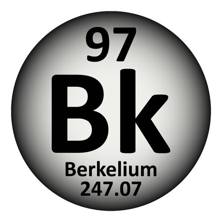 Periodic table element berkelium icon on white background. Vector illustration.