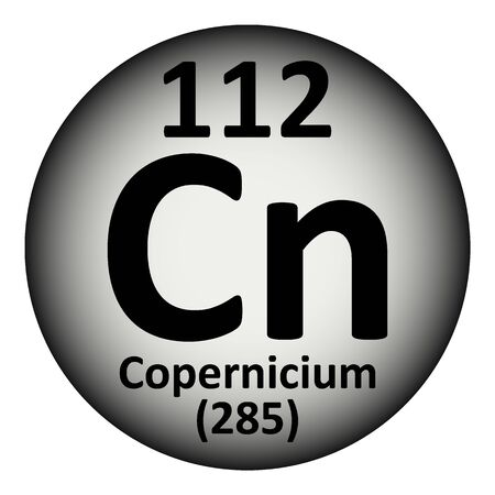 Periodic table element copernicium icon. Vector illustration.
