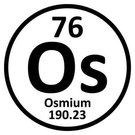 Periodic table element osmium icon on white background. Vector illustration.
