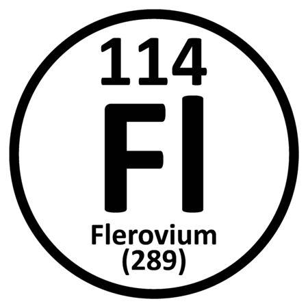 Periodic table element flerovium icon. Vector illustration.
