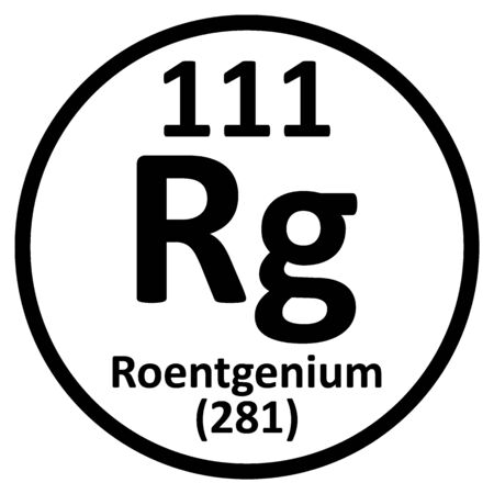 Periodic table element roentgenium icon. Vector illustration. Ilustração
