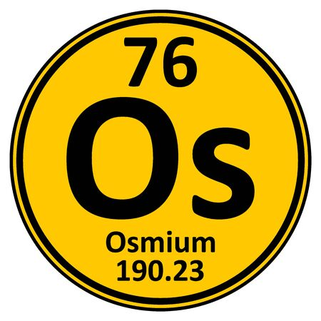 Periodic table element osmium icon on white background. Vector illustration.