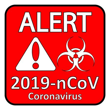 Coronavirus danger sign on white background. Vector illustration. Illustration