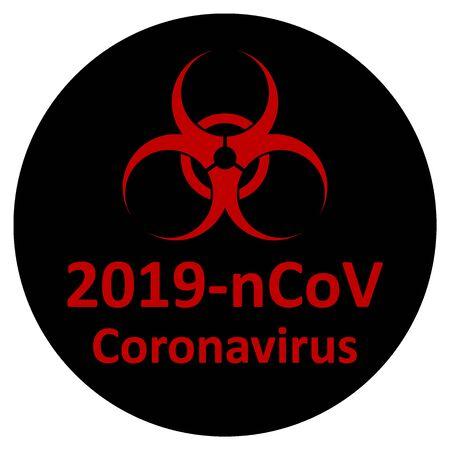Coronavirus danger sign on white background. Vector illustration. Stock Vector - 140200424