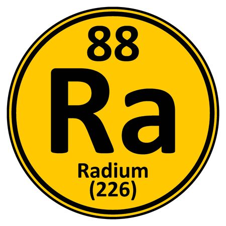 Periodic table element radium icon on white background. Vector illustration. Illustration