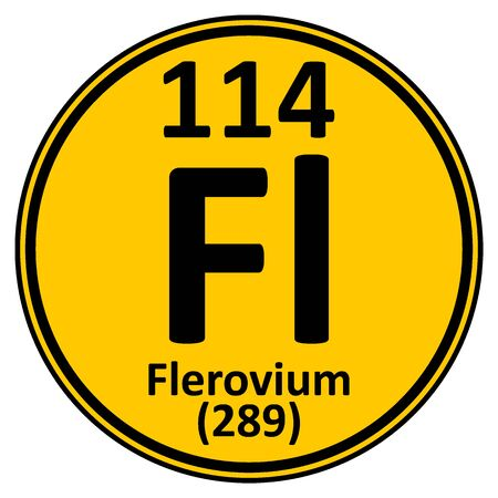 Periodic table element flerovium icon. Vector illustration.