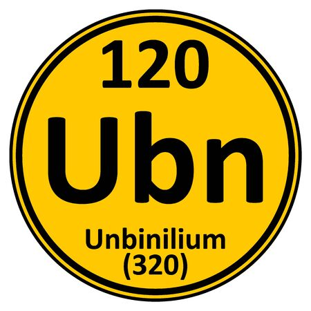 Periodic table element unbinilium icon. Vector illustration.