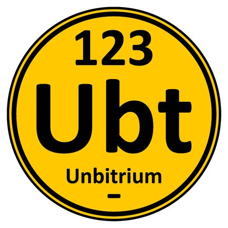 Periodic table element unbitrium icon. Vector illustration.