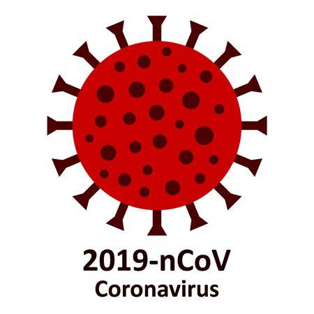 Coronavirus icon on white background. Vector illustration. Stock Vector - 140199217
