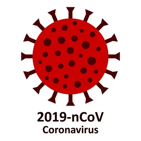 Coronavirus icon on white background. Vector illustration.