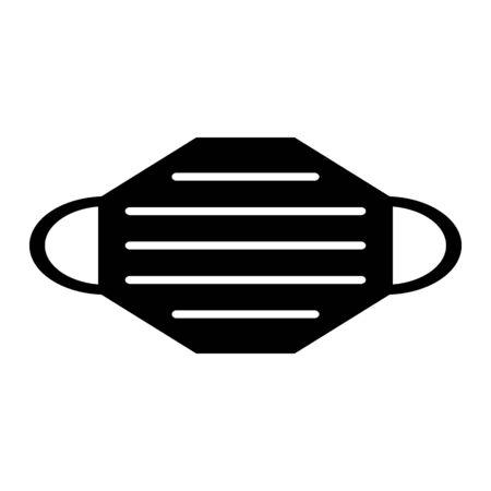 Medical mask icon on white background. Vector illustration. Illustration