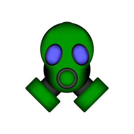 Gas mask icon on white background. Vector illustration.
