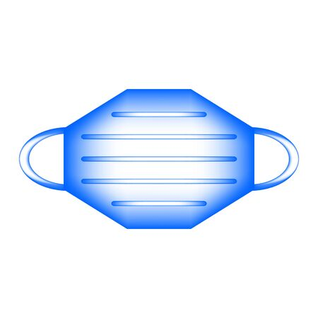 Medical mask icon on white background. Vector illustration.