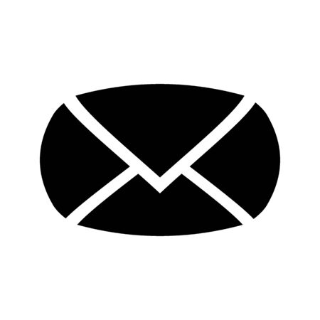 Mail symbol icon on white background. Illustration.