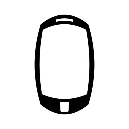 Phone symbol icon on white background. Illustration.