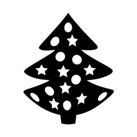 Christmas Tree symbol icon on white background. Illustration.