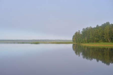Lake at early morning, Karelian isthmus, Russia.