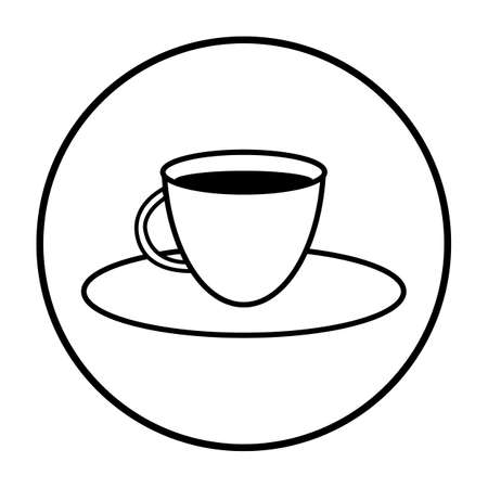 Coffee cup icon on white background. Vector illustration.