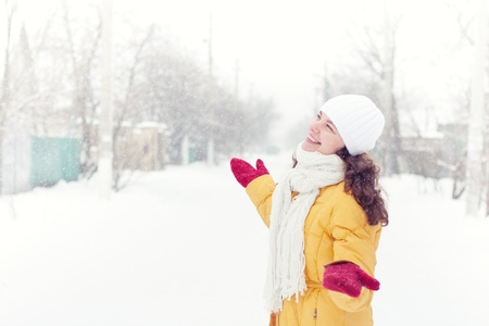 attractive woman in winter