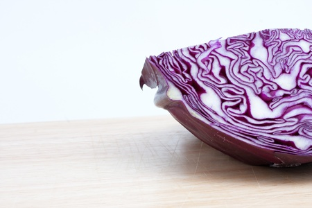 Cabbage at the kitchen isolated on white