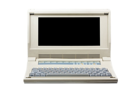 Old PC computer isolated on white