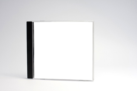 blank cd case isolated,perfect for inserting your own graphics. photo