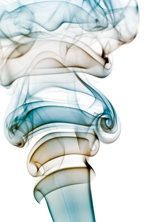 Isolated abstract smoke on white background photo