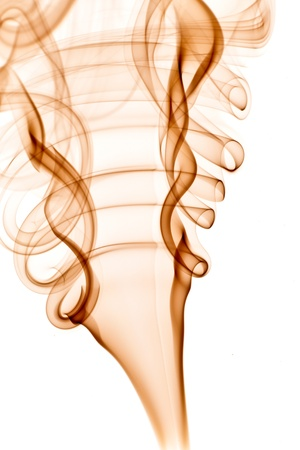 Isolated abstract smoke on white background Stock Photo - 13720705
