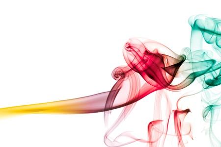 color image creativity: Humo abstracto aislado sobre fondo blanco