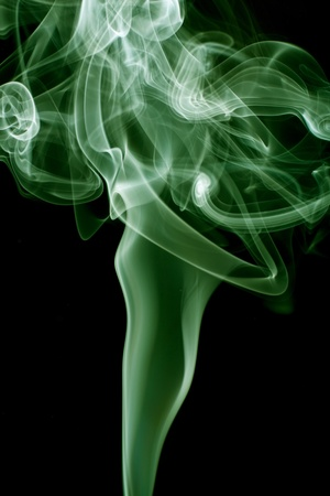 Isolated abstract smoke on black background Stock Photo - 13720750