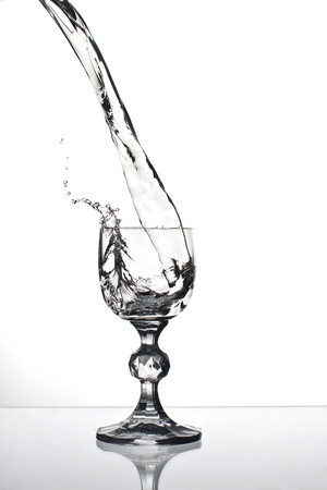 Cocktail glass isolated on white.  Stock Photo
