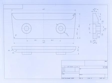 Open blueprint  Design element photo