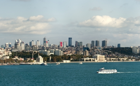 Panoramic View of Istanbul and bosphorus from Topkapi palace