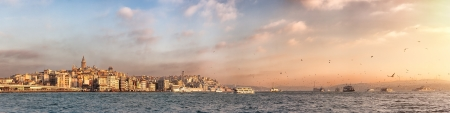 Istanbul skyline panorama  View of golden horn, Bosphorus and historical center of the city