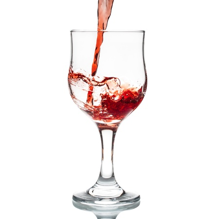 Wine being poured into glass