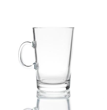 Empty tea glass isolated on white background Stock Photo