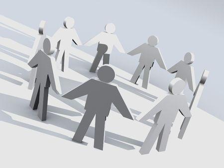 3D symbol of a team. Stock Photo - 201080