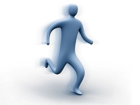 3d person running photo