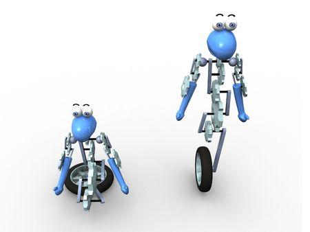 the 3d: 3d robots  Foto de archivo