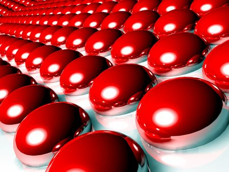 shinning: Red 3d spheres