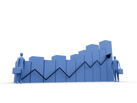 Business statistics #2 Stock Photo