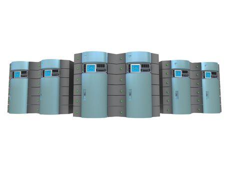 Blue 3d servers #3 Stock Photo