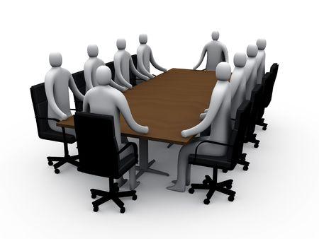 Sala de reuniones # 1  Foto de archivo