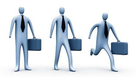 3d businessmen